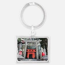 kitsune stone altar Landscape Keychain