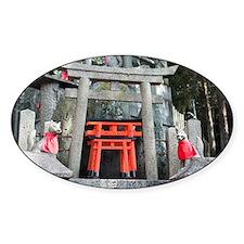kitsune stone altar Decal