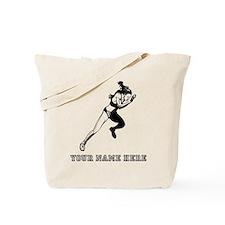 Custom Woman Sprinting Tote Bag