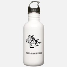 Custom Hurdler Girl Water Bottle