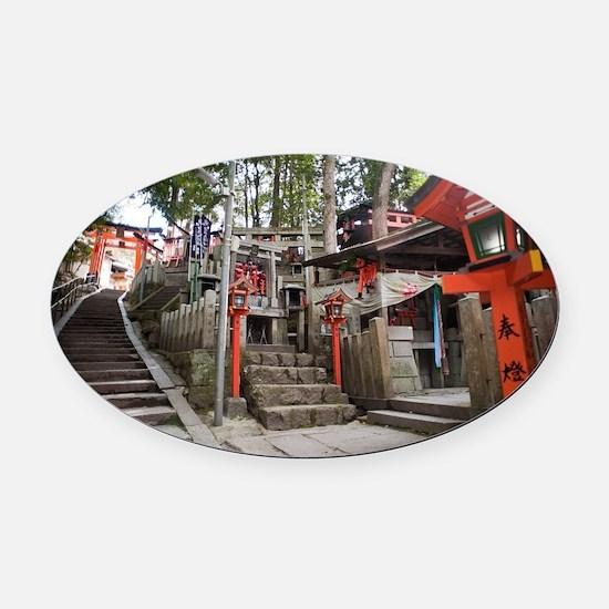 Inariyama hill Oval Car Magnet