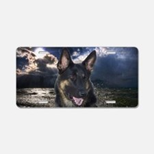German Shepherd Ocean Aluminum License Plate