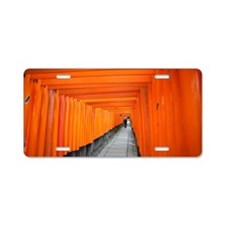 torii gate lined walk Aluminum License Plate