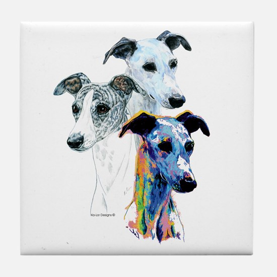 Whippet Group Tile Coaster