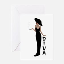 Diva Greeting Cards