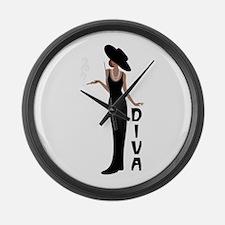 Diva Large Wall Clock