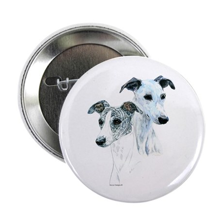 "Whippet Pair 2.25"" Button (100 pack)"