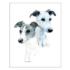 Whippet Pair Posters