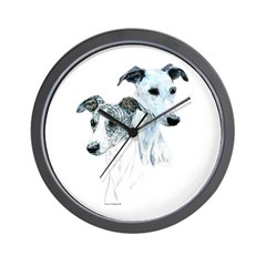 Whippet Pair Wall Clock