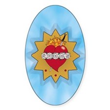 Immaculate Heart of Mary Oval Decal
