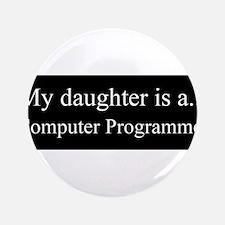 """Daughter - Computer Programmer 3.5"""" Button"""