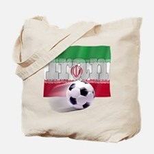 Soccer Flag Iran Tote Bag