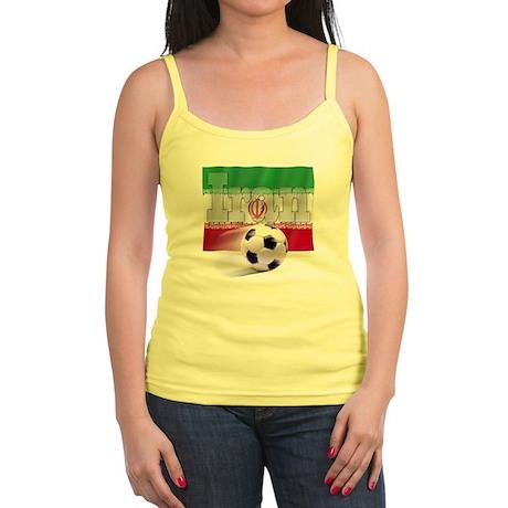 Soccer Flag Iran Jr. Spaghetti Tank