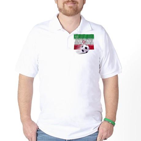Soccer Flag Iran Golf Shirt