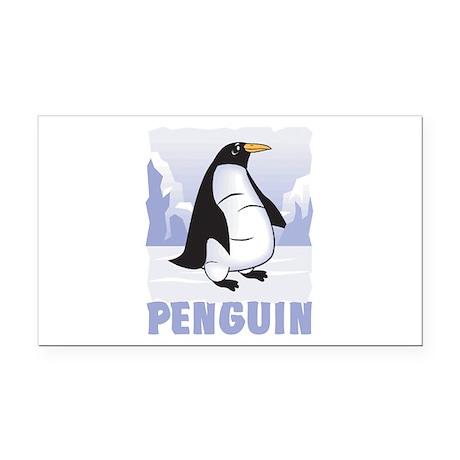 Kid Friendly Penguin Rectangle Car Magnet