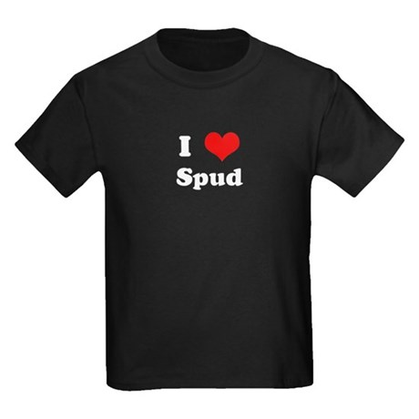 I Love Spud Kids Dark T-Shirt