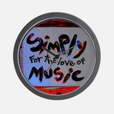 simply for the love of music Wall Clock