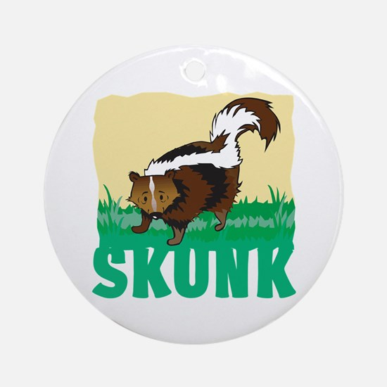 Kid Friendly Skunk Ornament (Round)