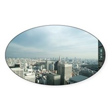 tokyo skyline Decal