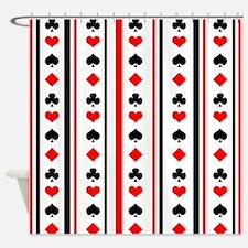 Poker Stripes Shower Curtain