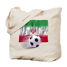 Soccer Flag Iran (Arabic) Tote Bag