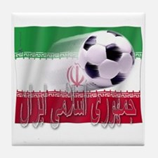 Soccer Flag Iran (Arabic) Tile Coaster