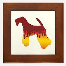 Kerry Flames Framed Tile