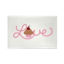 Cupcake Love in Pink Magnets