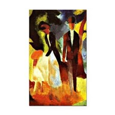 August Macke - People by the  Rectangle Car Magnet