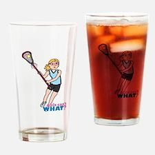 Girl's Lacrosse - Light/Blonde Drinking Glass