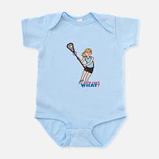 Girl's Lacrosse - Light/Blonde Infant Bodysuit