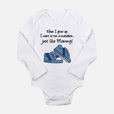 Run Marathon Just Like Mommy Body Suit