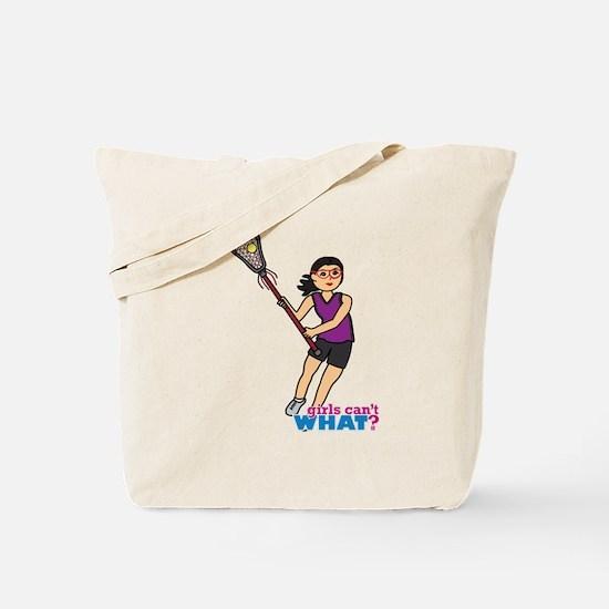 Girl's Lacrosse - Medium Tote Bag