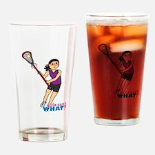 Girl's Lacrosse - Medium Drinking Glass