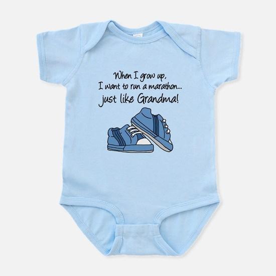 Run Marathon Just Like Grandma Body Suit