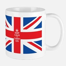 keep calm union jack flag Mug