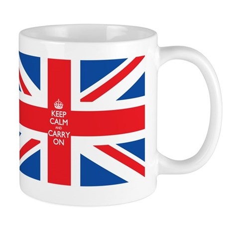 keep calm union jack flag Mug