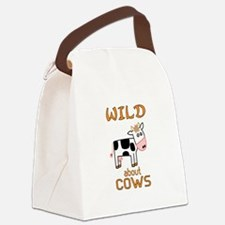 Wild About Cows Canvas Lunch Bag