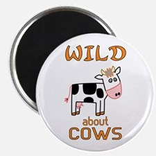 """Wild About Cows 2.25"""" Magnet (10 pack)"""