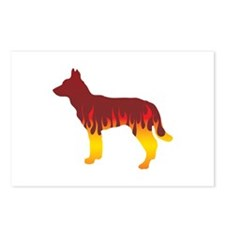 Jindo Flames Postcards (Package of 8)