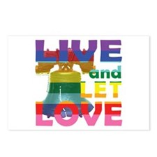 Live Let Love Liberty Bell Postcards (Package of 8