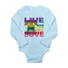 Live Let Love Liberty Bell Body Suit