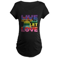 Live Let Love Liberty Bell Maternity T-Shirt