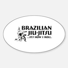 Jiu-Jitsu Oval Decal