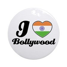 I love Bollywood Ornament (Round)