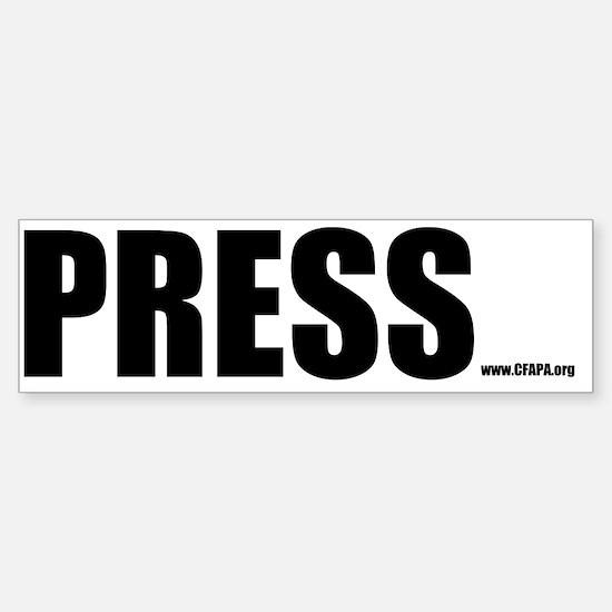 Press Bumper Sticker (10 Pack)