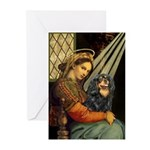 Madonna & Cavalier (BT) Greeting Cards (Pk of 10)