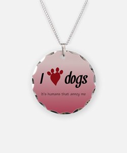 I Heart Dogs Necklace