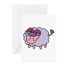Lavender Baby Ram Greeting Cards (Pk of 10)