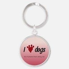 I Heart Dogs Keychains